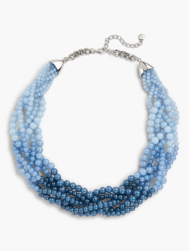Braided Ombré Bead Necklace