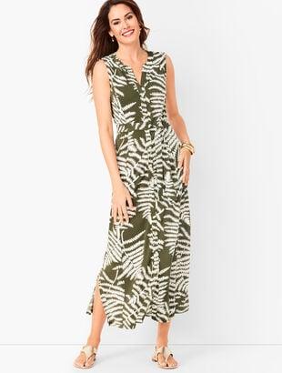 ff545754383 Botanical Maxi Shirtdress