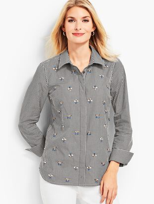 Gingham Embellished Shirt