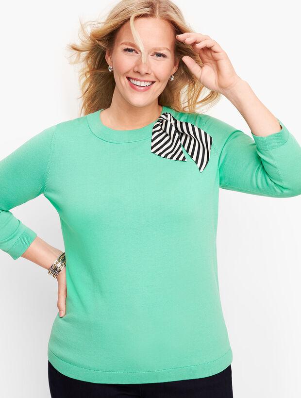 Stripe Scarf Detail Sweater