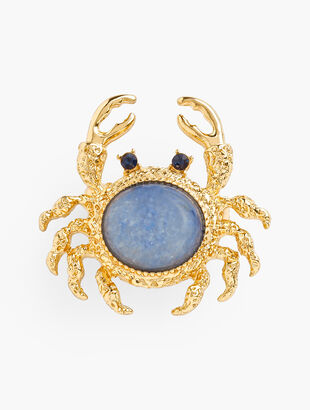 Jeweled Crab Brooch