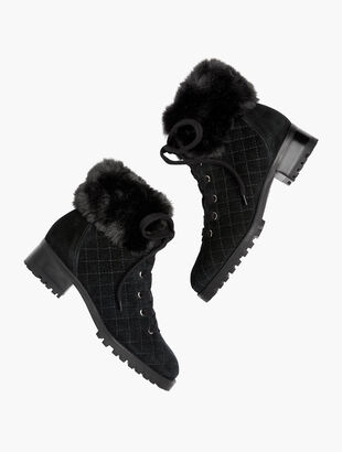 Tish Quilted Hiking Boots - Suede