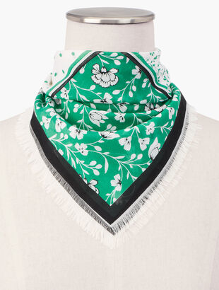 Square Floral Neckerchief