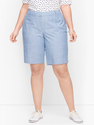 Perfect Shorts - Bermuda Length - Newport Chambray