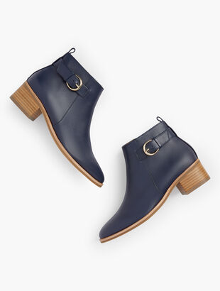 Via Buckle Booties - Vachetta Leather