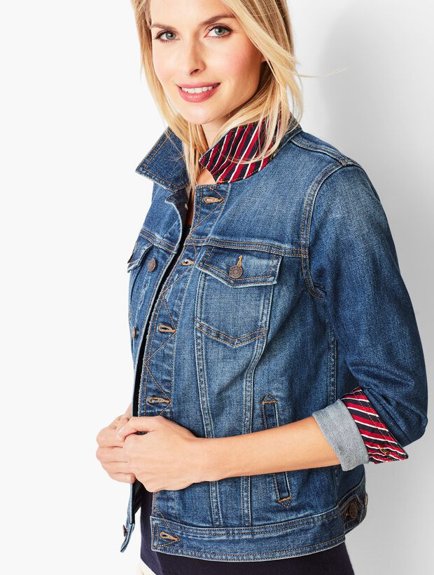 Classic Novelty Jean Jacket - Varsity Wash