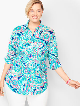 Classic Cotton Shirt - Layered Paisley