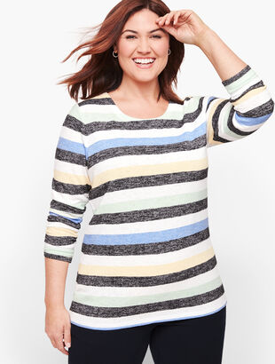 Stripe Cutout Back Top - Multicolor