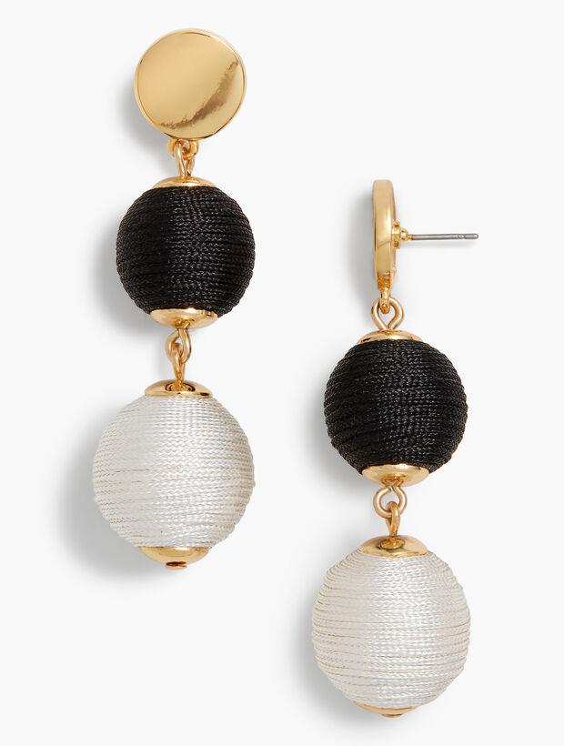 Thread-Wrapped Sphere Earrings