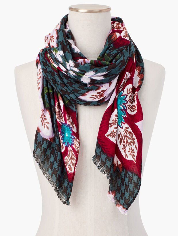 Brushed Floral Menswear Scarf