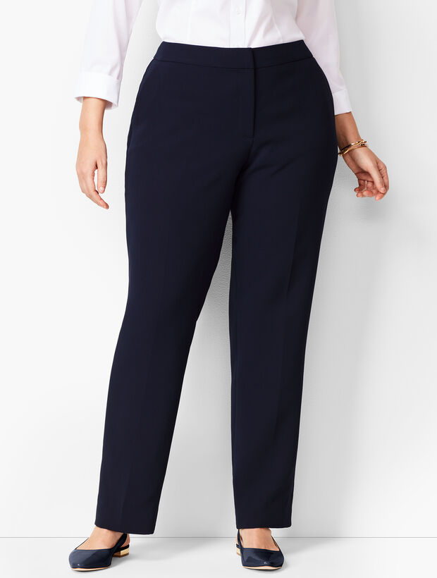 Seasonless Crepe Straight-Leg Pants- Curvy Fit