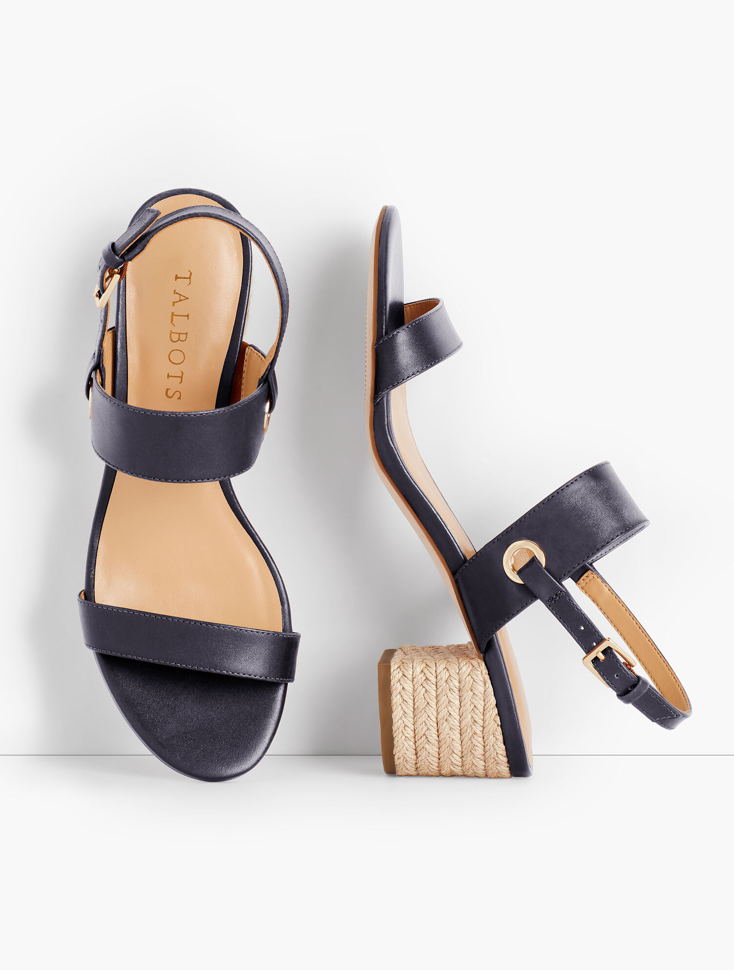 Mimi Rope Heel Sandals - Vachetta