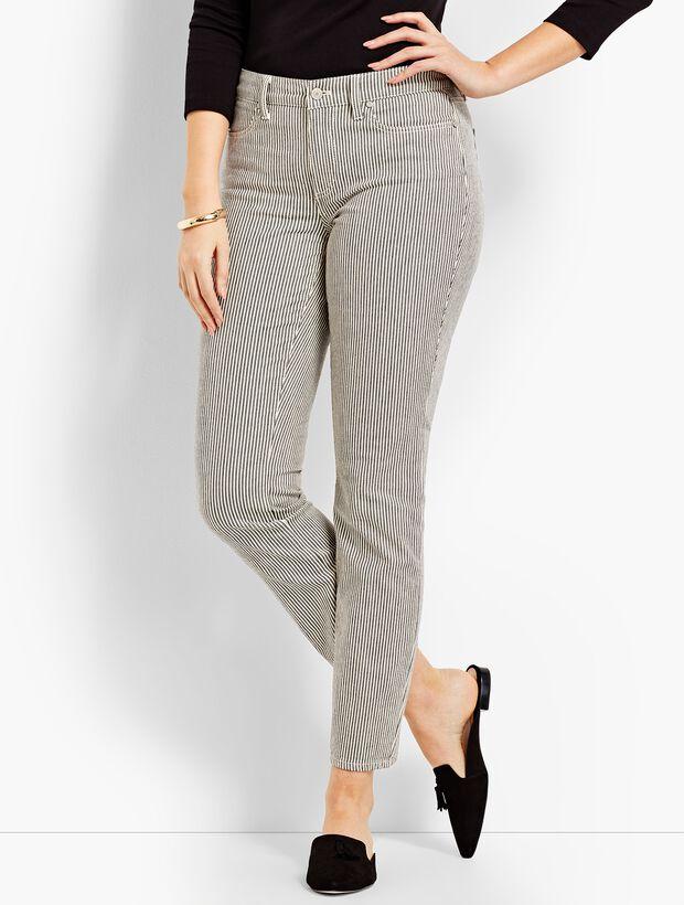 Denim Slim Ankle - Curvy Fit/Railroad Stripe