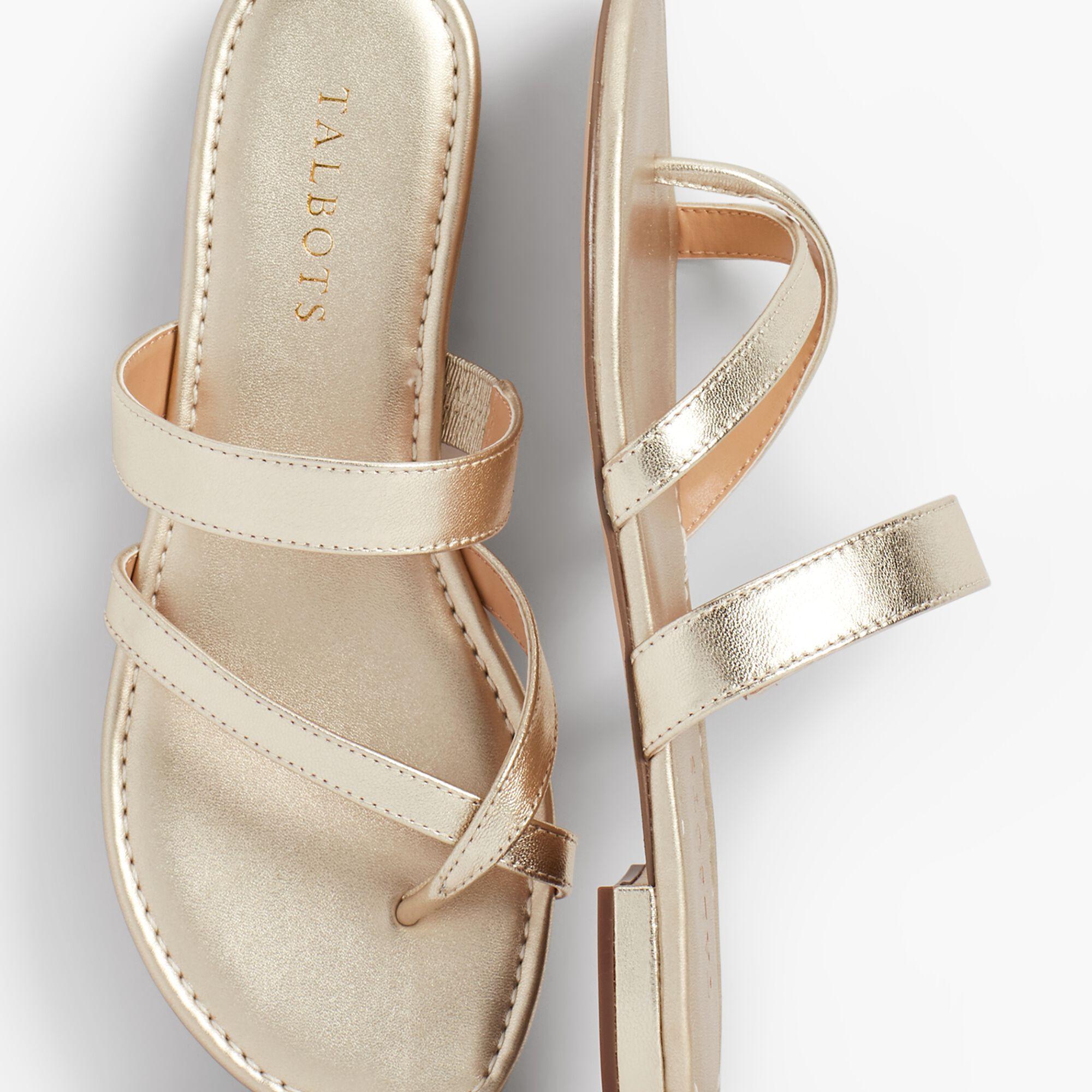 520eeec86 Gia Toe-Ring Sandals - Metallic Nappa