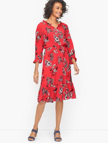Fit & Flare Dress - Sketched Floral
