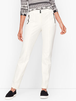 Stretch Twill Straight Leg Pants