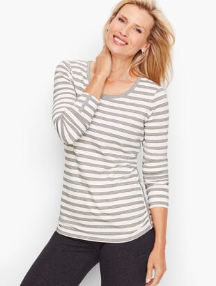 Ruched Side Stripe Tee