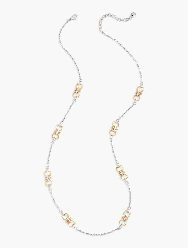 Equestrian Links Two Tone Necklace