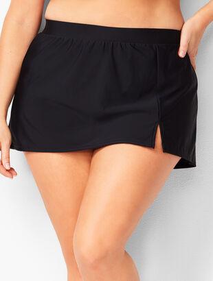 Plus Size Vented Swim Skirt