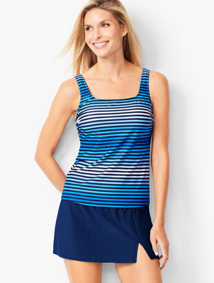 Miraclesuit(R) Scoop-Neck Tankini Top- Ombre Stripe