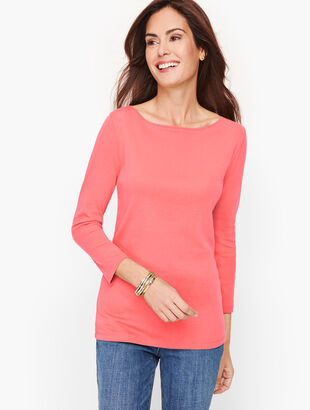 Cotton Bateau Neck Tee
