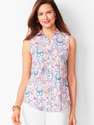 Sleeveless Perfect Shirt - Paisley