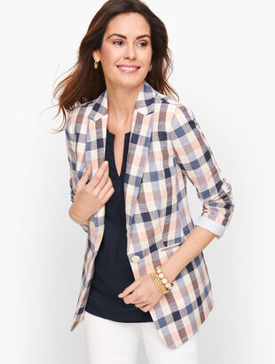 Vivid Plaid Blazer