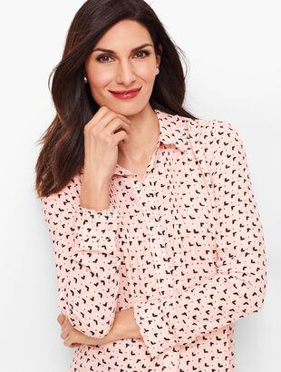 Soft Butterfly Pintuck Shirt