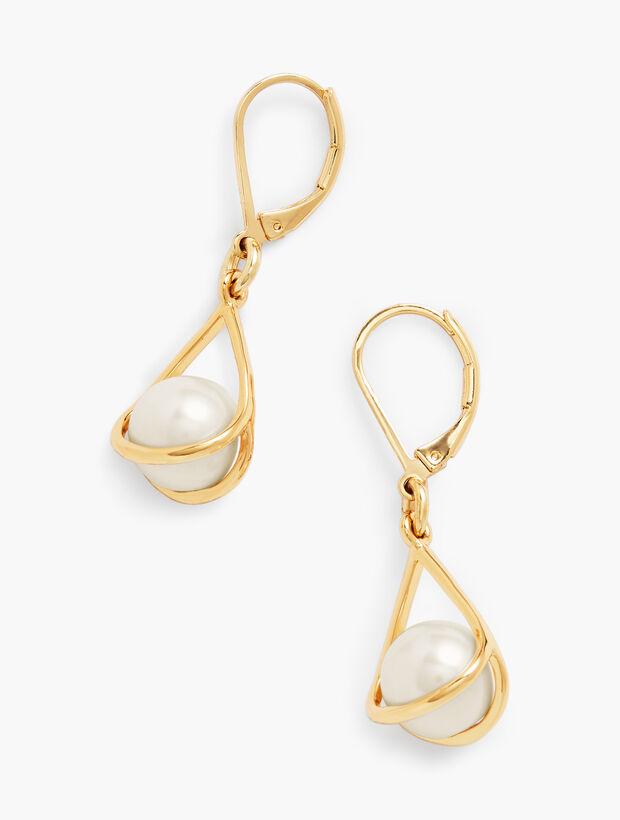Floating Pearl Earrings