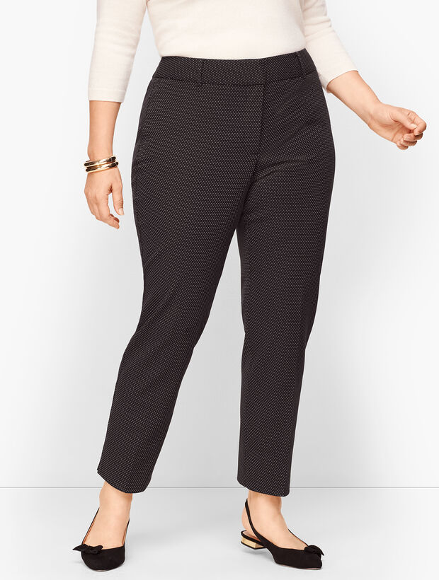 Plus Size Talbots High Waist Hampshire Ankle Pant - Dot