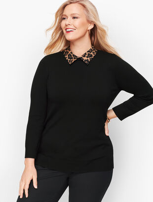 Leopard Collar Sweater