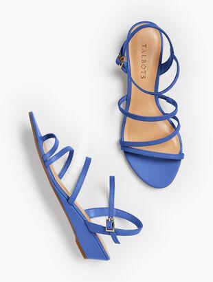 d11f45543483 Capri Multi-Strap Mini-Wedge Sandals - Nappa Leather