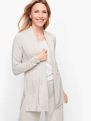Fluid Knit Open Cardigan