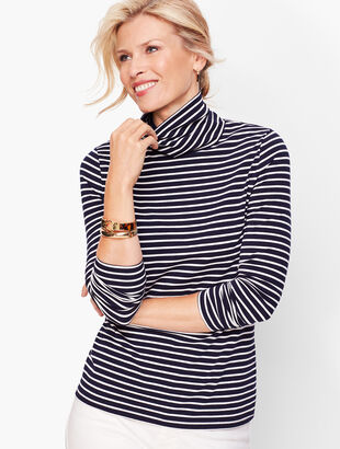 Long Sleeve Turtleneck- Bergen Stripe