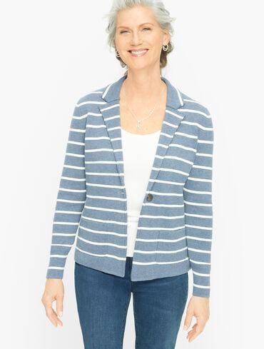 Stripe Modern Sweater Blazer