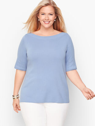 Bateau Neck Sweater Topper - Solid