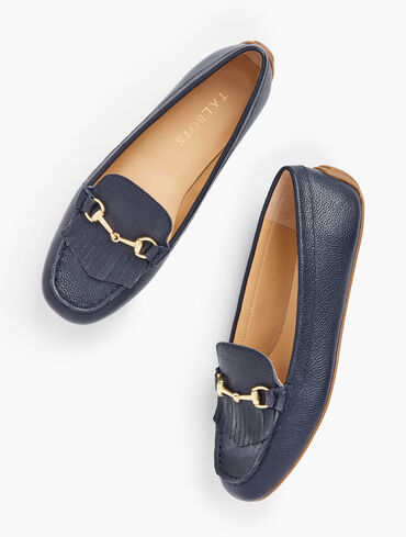 Everson Horsebit Pebbled Leather Driving Moccasins