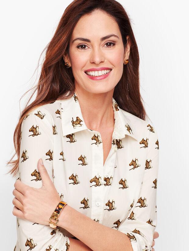 Classic Cotton Shirt - Equestrian