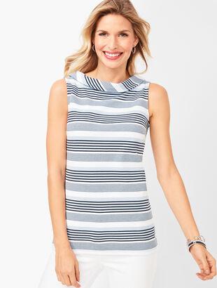 Sabrina Ponte Shell - Stripe