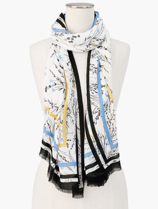 Floral Breeze Oblong Scarf
