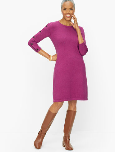 Kitty Tweed Open Neck Sweater Dress