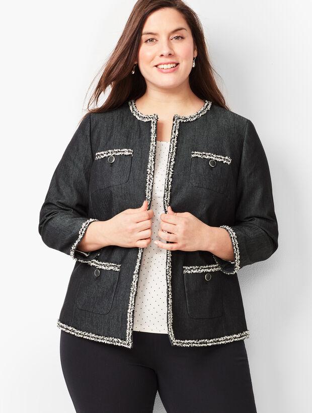 Tweed-Fringe Jacket