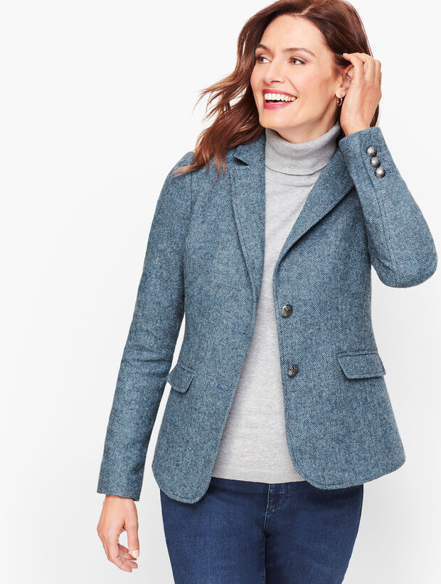 Shetland Wool Blazer - Heathered