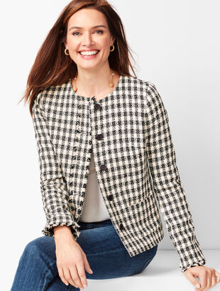 Gingham Tweed Jacket
