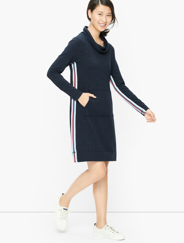 Cowlneck Terry Dress