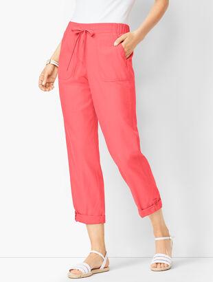 Drawstring Cuffed Pants