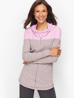 Heather Colorblock Pullover