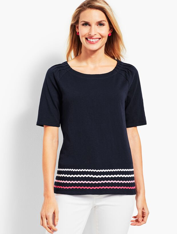 Pleat Sleeve Tee