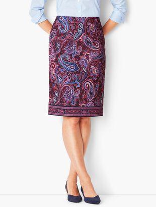 Paisley Pencil Skirt