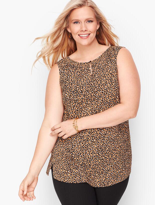 Smock Neck Shell - Tiny Leopard
